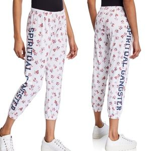 SPIRITUAL GANGSTER l Cropped Floral Joggers